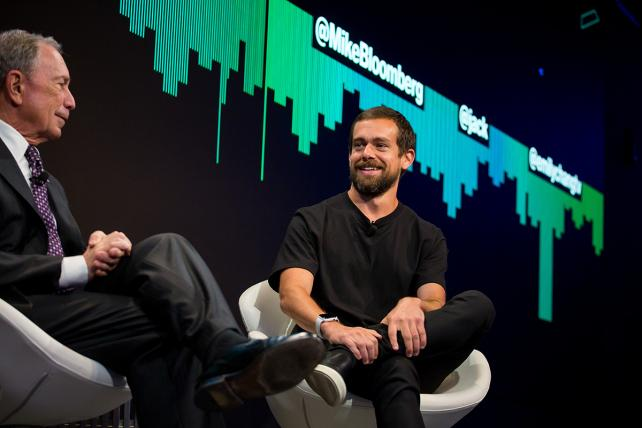 Michael Bloomberg and Jack Dorsey discuss their deal for a streaming news network on Twitter last May.
