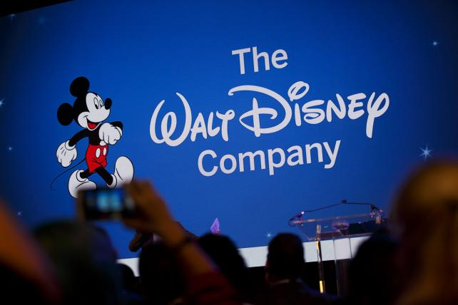 Walt Disney Co. signage on view during the D23 Expo 2017 in Anaheim, California.