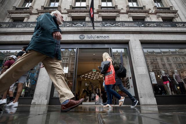 A Lululemon store in London.