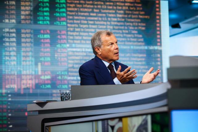 Martin Sorrell, CEO of WPP, speaks during a Bloomberg Television interview in New York on Aug. 8, 2017.