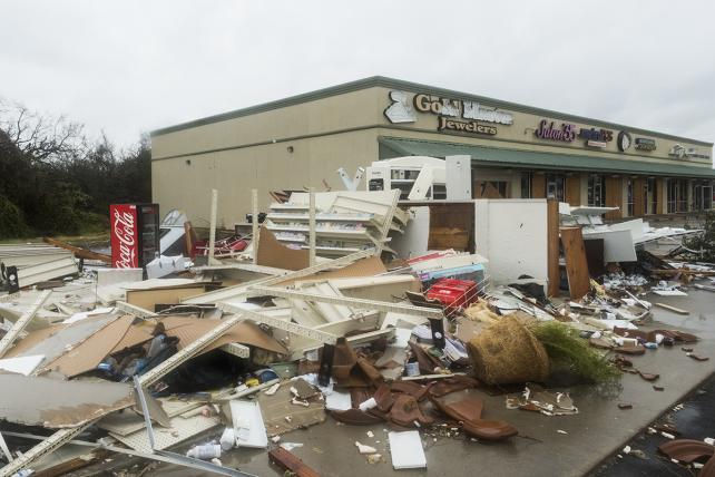 Damage from Hurricane Harvey in Rockport, Texas.