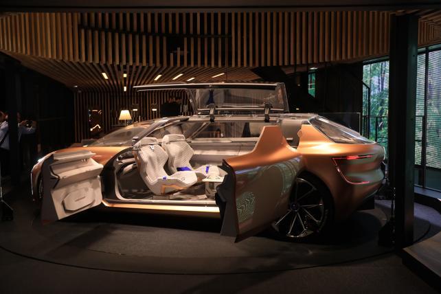 A Renault SA Symbioz concept car at the Frankfurt Motor Show on Sept. 12, 2017.