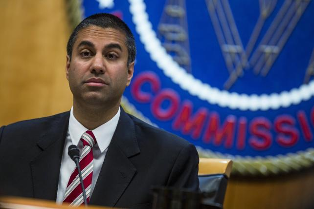 Ajit Pai, chairman of the Federal Communications Commission, during an open meeting in Washington, D.C., on Nov. 16. The FCC plans to vote in December to kill the net neutrality rules passed during the Obama era.
