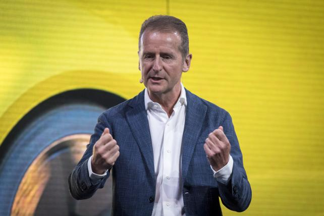 Herbert Diess, chief of the Volkswagen brand, was named to take over as CEO of the company as a whole.