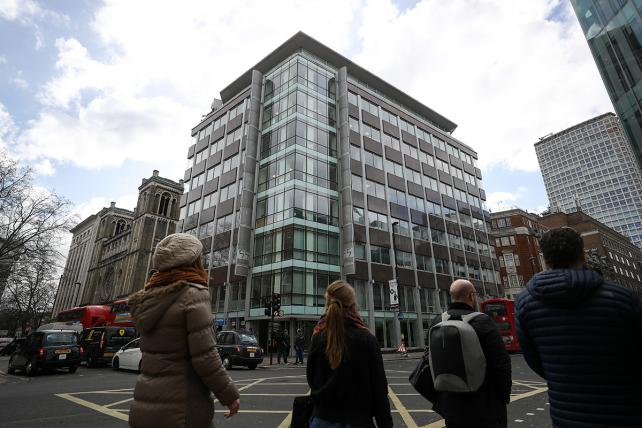 The building that houses the offices of Cambridge Analytica in London.