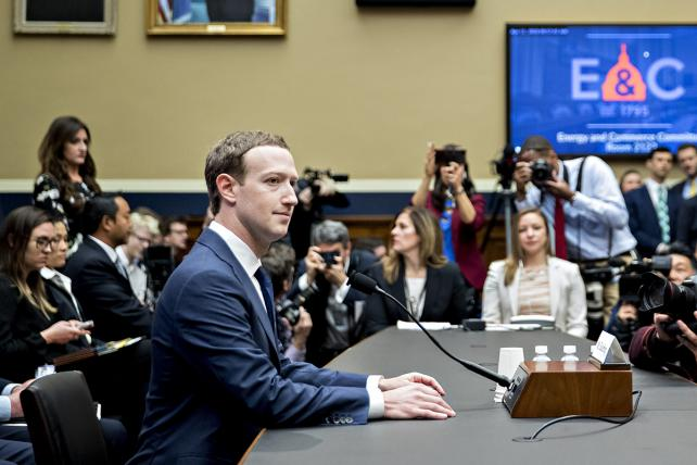 Mark Zuckerberg speaks during a House Energy and Commerce Committee hearing in Washington on Wednesday.