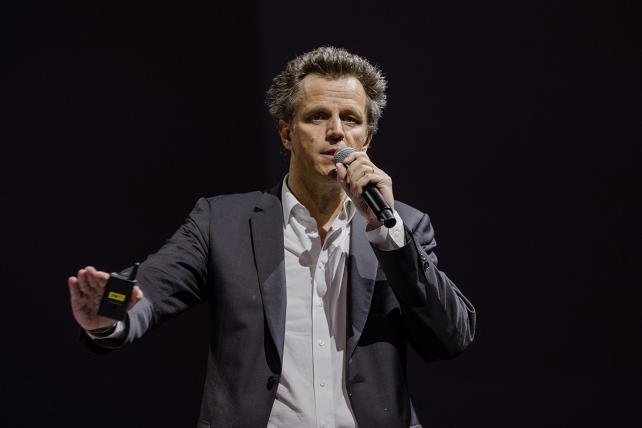 Arthur Sadoun, chief executive officer of Publicis Groupe SA, speaks during the Viva Technology conference in Paris, France, on Thursday, May 24, 2018.