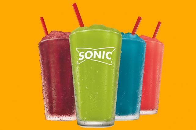 An array of Sonic slushies