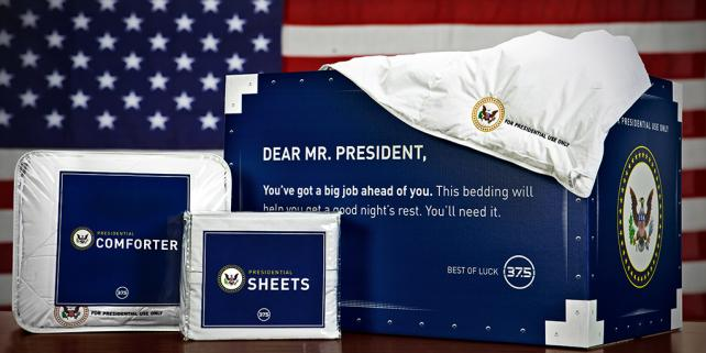 Sheets fit for a president.