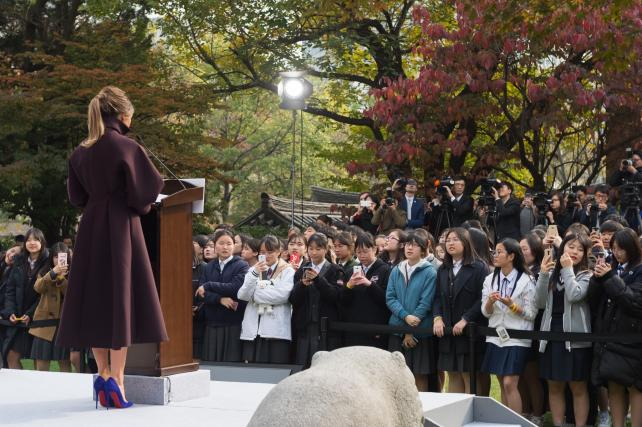First Lady Melania Trump visits South Korea with the president.