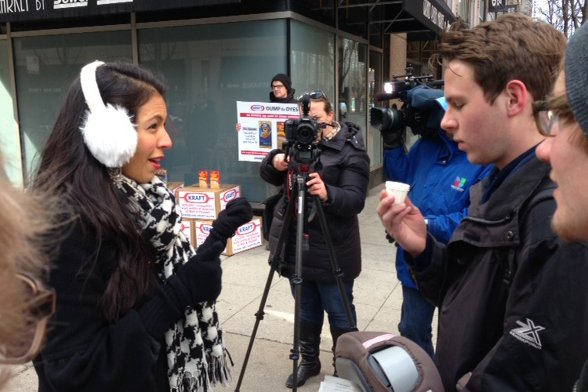 Vani Hari targeted Kraft in Chicago last year and got plenty of media attention.