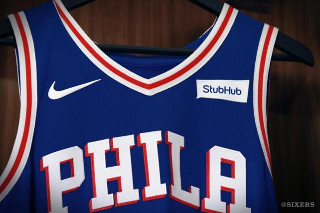 The Philadelphia 76ers' new uniform.