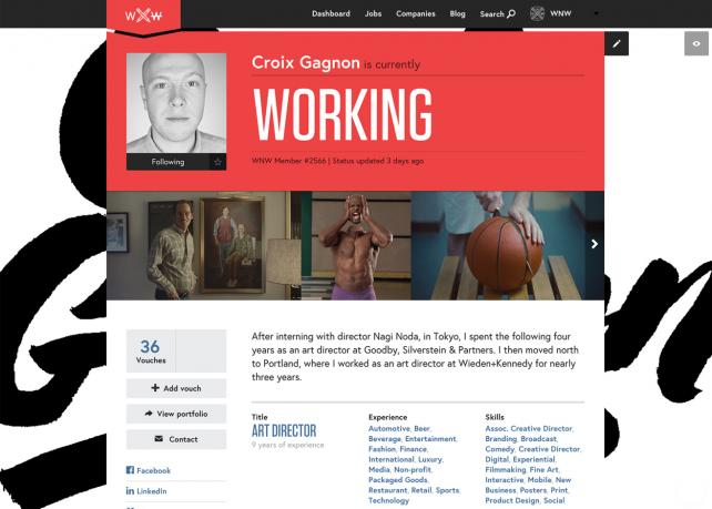 Working Not Working Profile Page