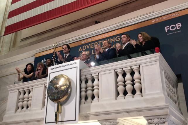 The ringing of the NYSE closing bell in celebration of the 2019 inductees to the 70th Annual Advertising Hall of Fame.