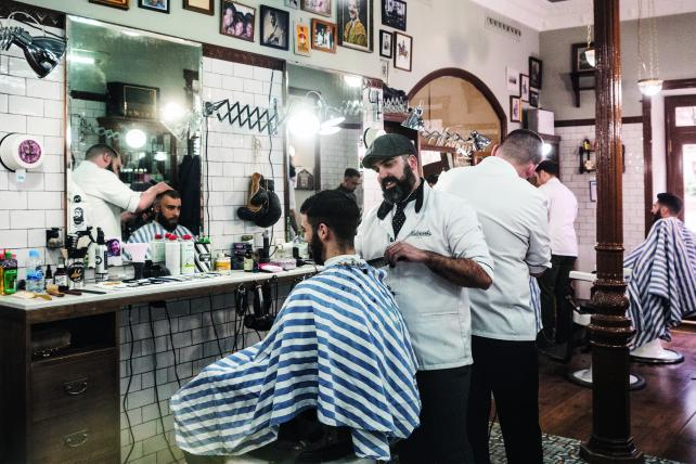Kastner's Malayerba barbershop in Madrid.