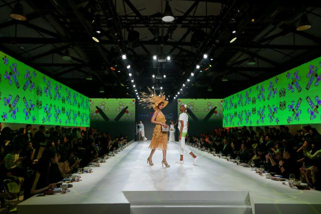 Supermarket giant Aldi made food into fashion for a runway show in China