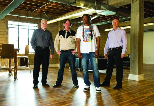 From left: Mike Weisman, CEO; Jon Gothold, executive creative director; Jimmy Smith, chairman/chief creative officer; Ed Collins, president.