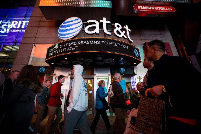 AT&T's store in Times Square, New York City.