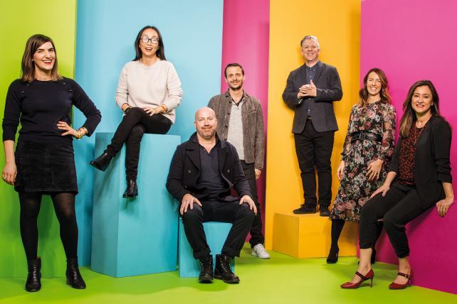 Anomaly's crew (from l.): Allie Sabol, Jiah Choi, Mike Byrne, Jason DeLand, Gareth Goodall, Natasha Jakubowski and Karina Wilsher.