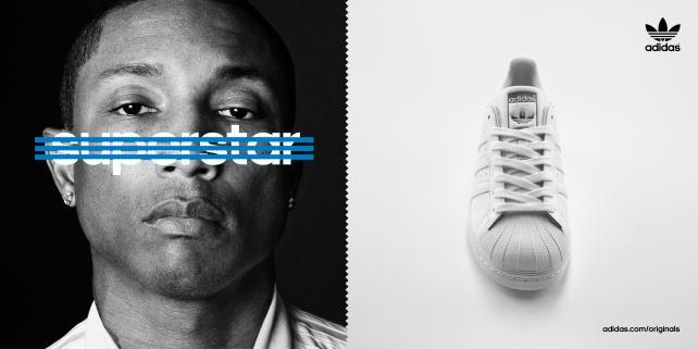 Print ad featuring Pharrell Williams