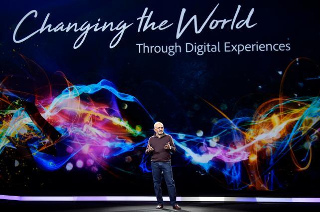 Adobe CEO Shantanu Narayen at the Adobe Summit on Tuesday, March 27, 2018, in Las Vegas