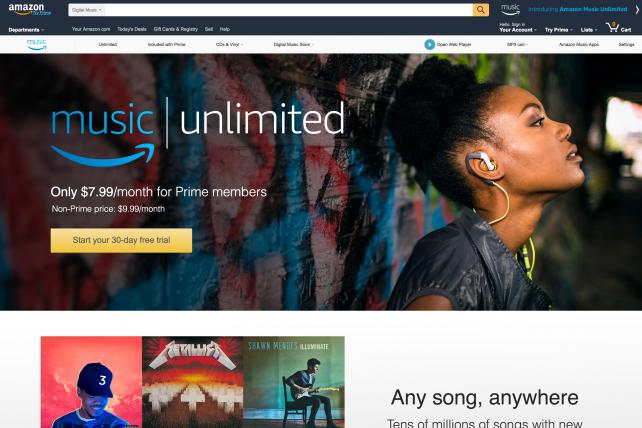 Amazon's New Music-Streaming Service Goes Up Against Spotify, Apple