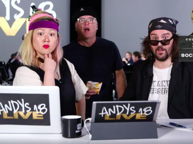 This is what happened when Andy Awards judging went live