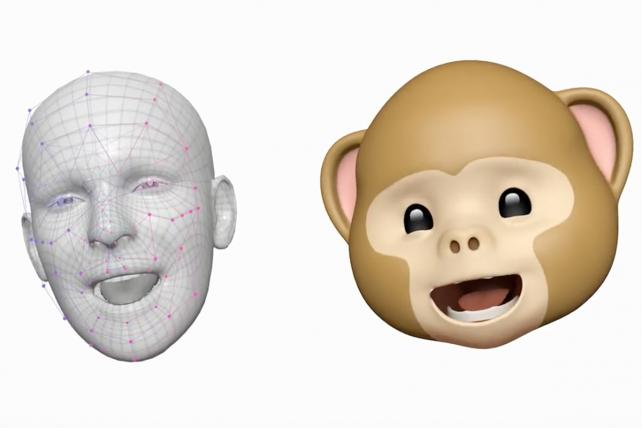 Facial technology is also used for fun, like transforming selfies into emojis.