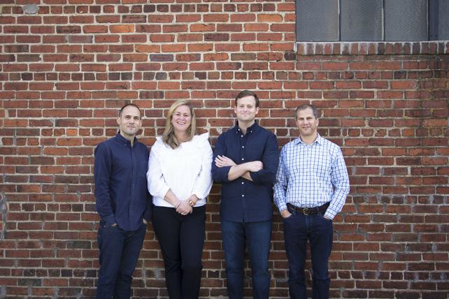 (From l.) Andy Grayson, director of strategy; Letitia Jacobs, head of production; Charles Hodges, founder & ECD; andRich Weinstein, managing director