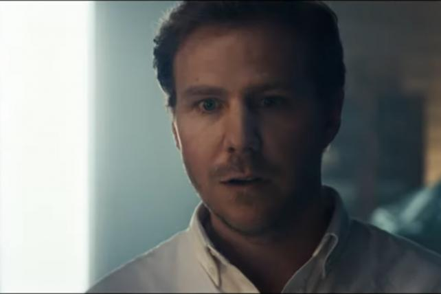 Audi's Super Bowl ad depicts a man having a vision while choking