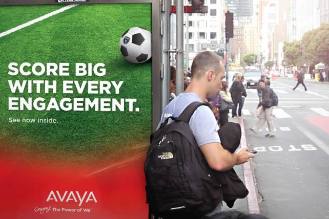 Avaya Targets Silicon Valley Tech Workers with Bus-Shelter Game
