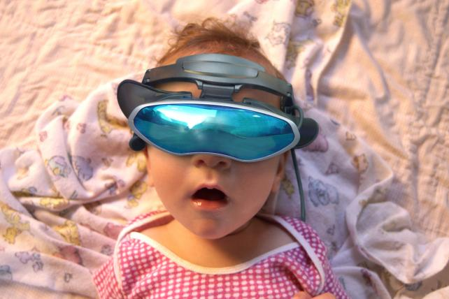 Oh baby! Virtual reality gets real