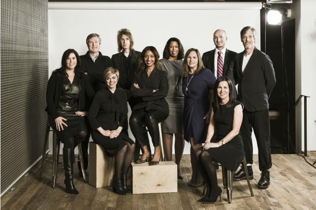 BBDO New York's Team of Specialists: Tina Allan, John Osborn, Crystal Rix, Greg Hahn, Tara DeVeaux, Sharona Sankar-King, Denise Henry, Kirsten Flanik, Julian Cole and Dave Rolfe.
