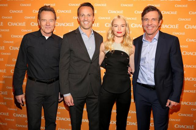 Bryan Cranston, Eric Berger, Kate Bosworth and Dennis Quaid at Crackle's upfront presentation held at the New York City Center on April 2, 2016