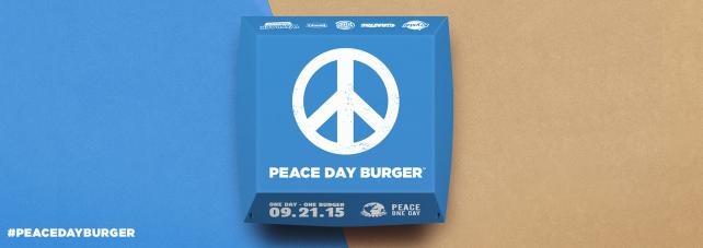 Possible Burger King Peace Day Burger packaging.