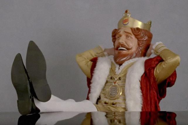 Burger King teases its return to the Super Bowl with the King's ad shoot