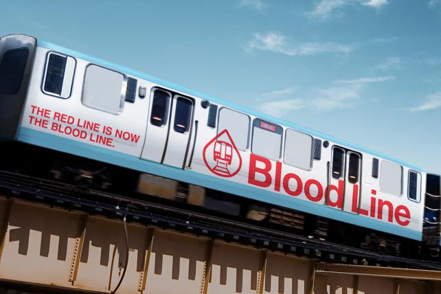 Chicago's Red Line train becomes the 'Blood Line'