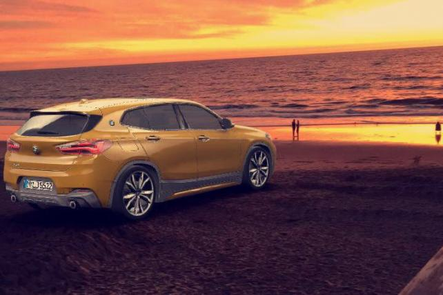 The BMW X2 is part of a Snapchat lens, and consumers can change its color and size.