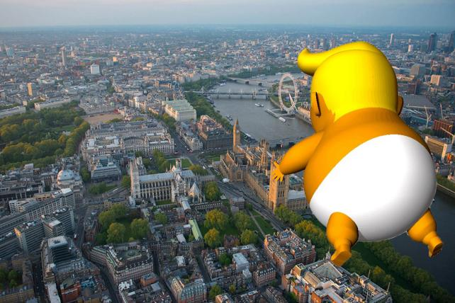 What you need to know about the Trump Baby blimp that will greet POTUS in the U.K.
