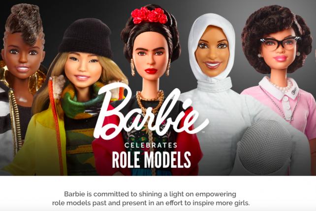 Mattel's Role Model Barbies.