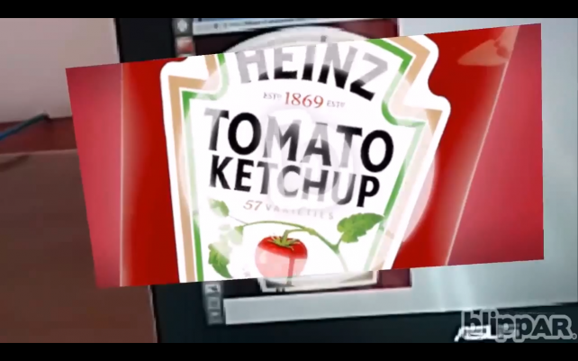 Using the Blippar app, Google Glass users could call up more information about, for example, Heinz Ketchup.