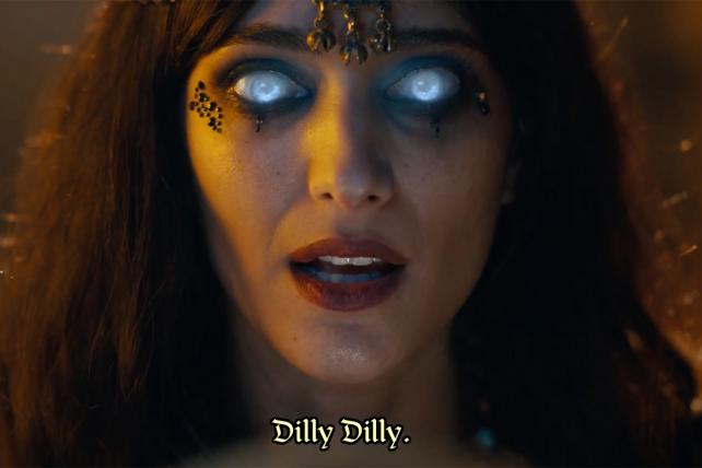 Bud Light's newest Dilly Dilly ad intros Oracle Susanna.