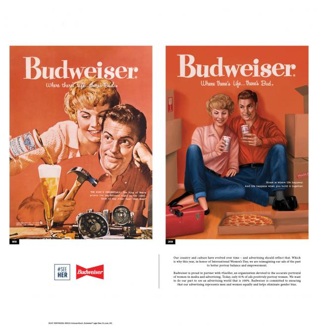Budweiser International Women's Day LATimes ad