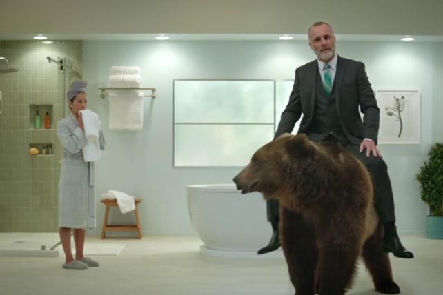 A bear stars in Build.com's new campaign.