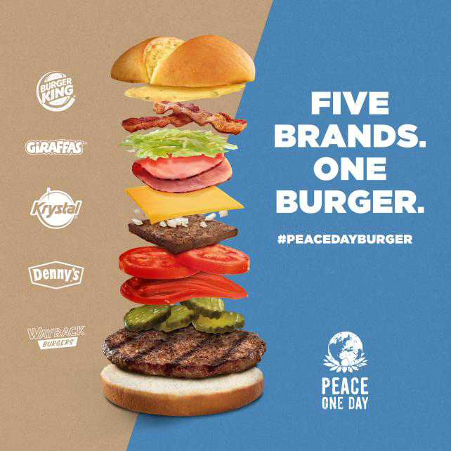 Burger King's 2015 Peace Day effort encompassed rival brands.