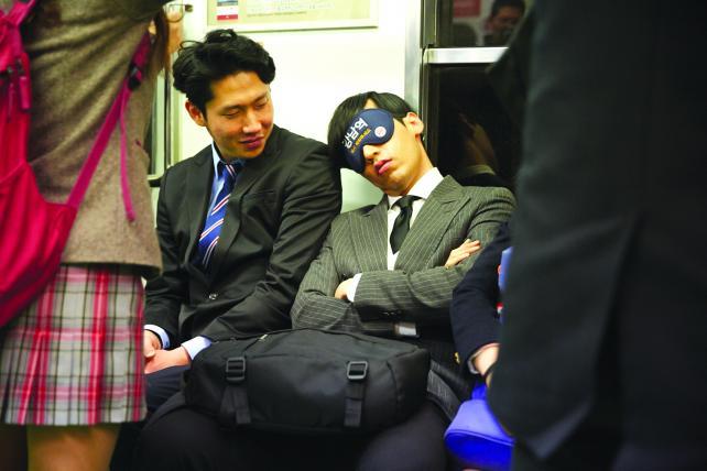 Burger King's sleep mask for Seoul subway commuters