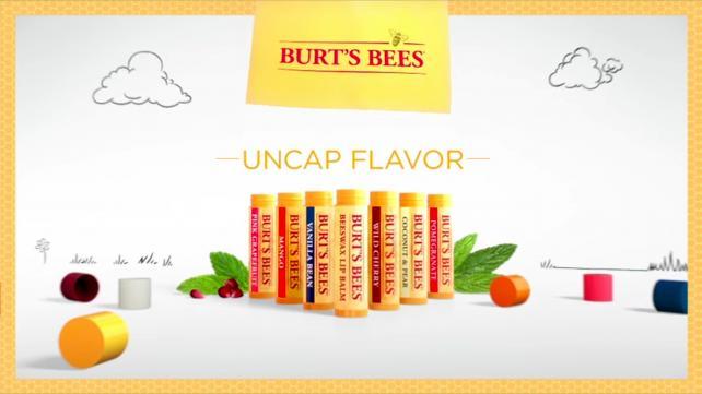 Burt's Bees chose to run its 'Uncap Flavor' campaign on TV.