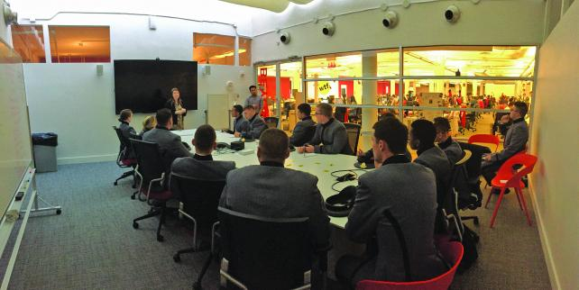 Cadets visit BuzzFeed for tips on reaching Western 'fence-sitters.'