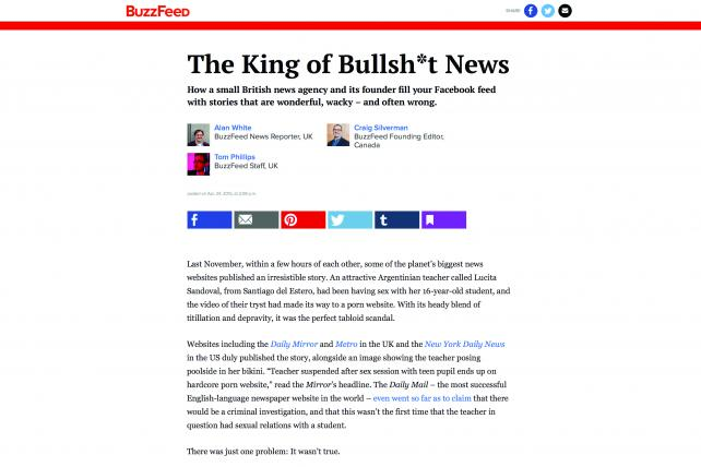 The British journalist Michael Leidig is suing over this BuzzFeed article from April 2015.