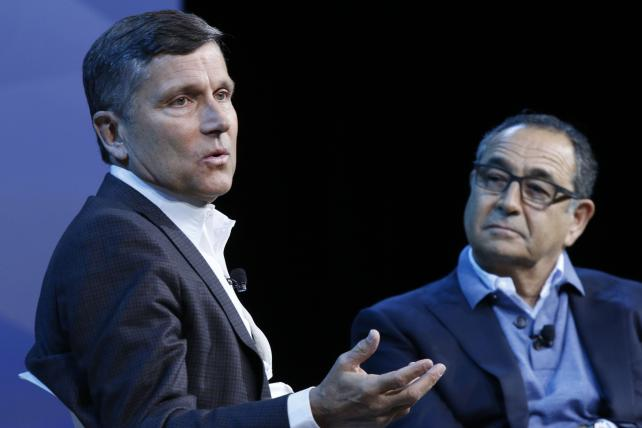 NBC Universal CEO Steve Burke in conversation with MediaLink CEO Michael Kassan at the Consumer Electronics Show.